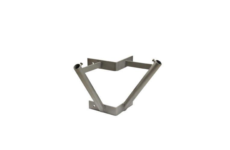 Supporti da muro inox angolari per aste d.25 mm