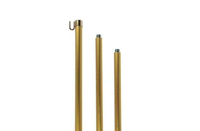 Aste per bandiere da interno alluminio color oro