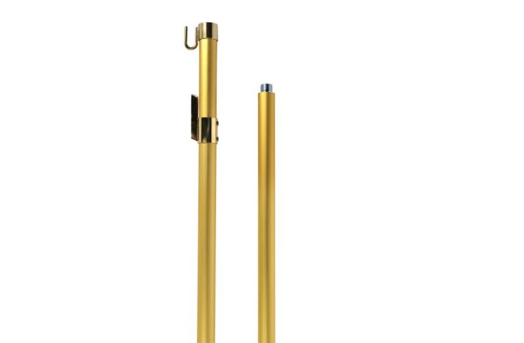 Aste da interno per gonfalone alluminio color oro