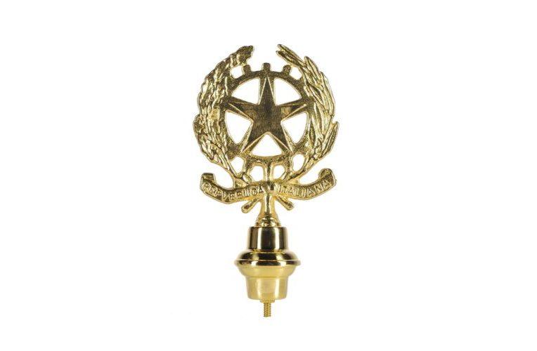 Emblema Repubblica Italiana in ottone