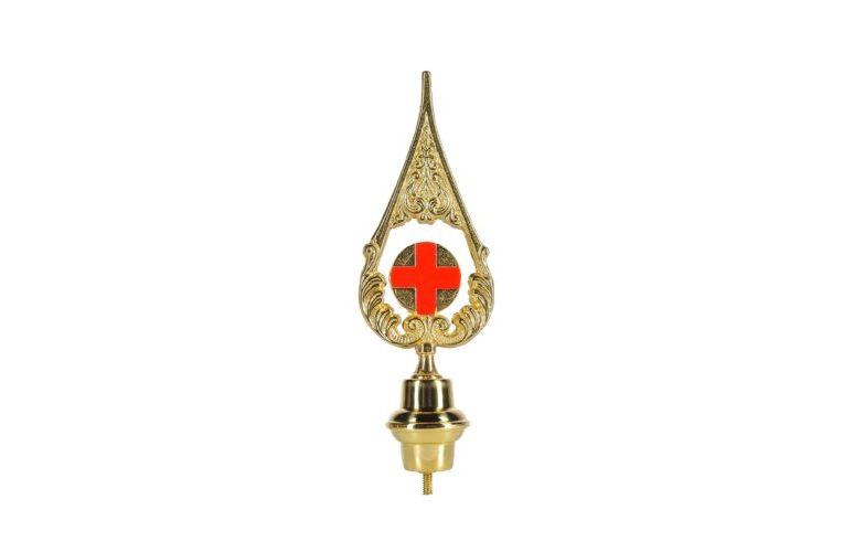 Lancia Croce Rossa in ottone