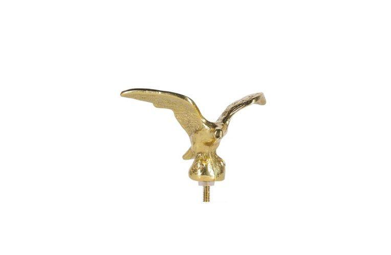 Emblema Aquila in volo in ottone