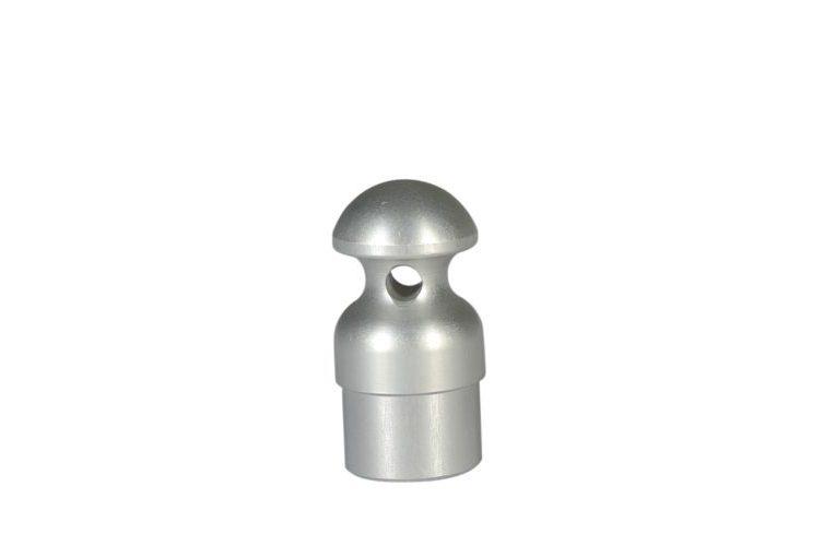 Pomolo in alluminio per aste