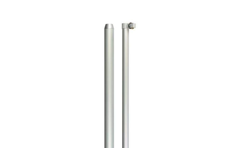 Asta in alluminio con carrucola in due sezioni