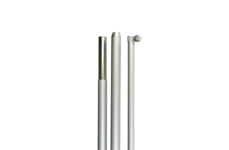 Asta in alluminio per esterno con carrucola