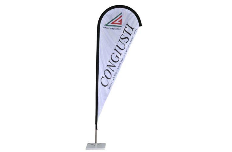 Struttura in alluminio per bandiere a goccia