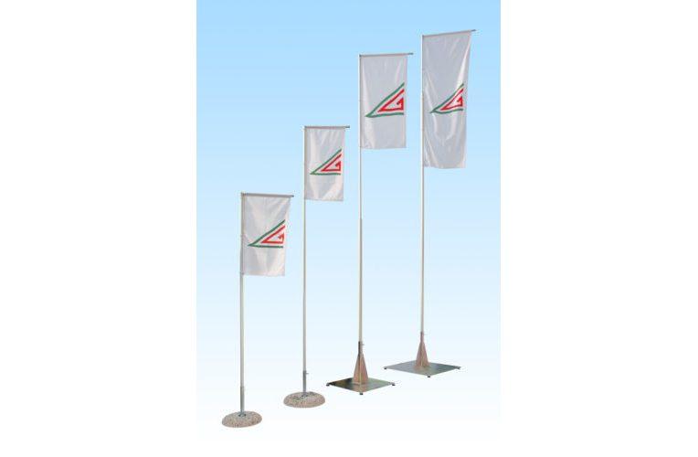 Asta in alluminio con braccio girevole per bandiere